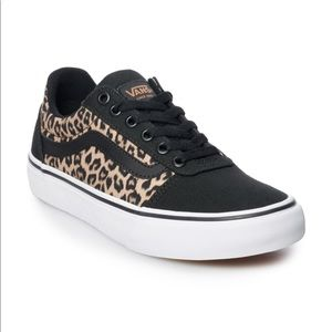 New Vans Ward DX Women's Skate Shoes Cheetah Print